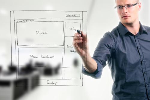 website development wireframe