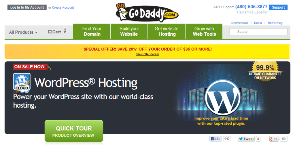 GoDaddy.com and WordPress