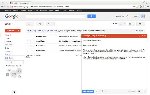 ExtensionSecure Gmail by Streak