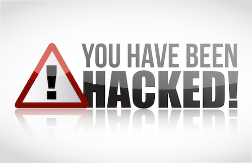 You Have Been Hacked Sign illustration design over white